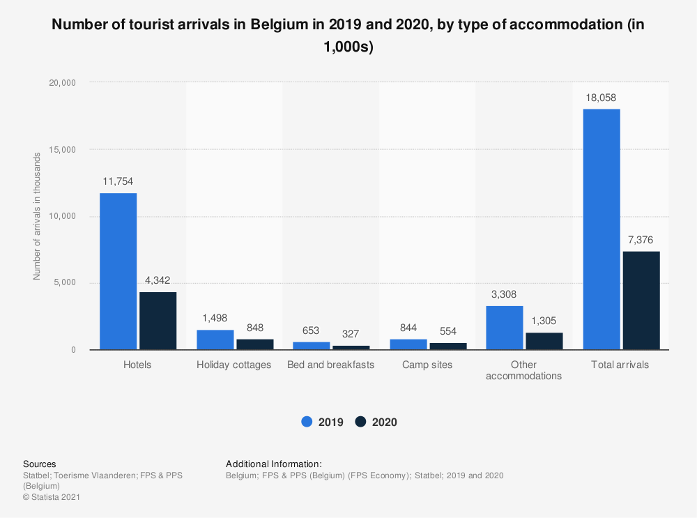 Statistic: Number of arrivals in Belgium in 2018, by accommodation type | Statista