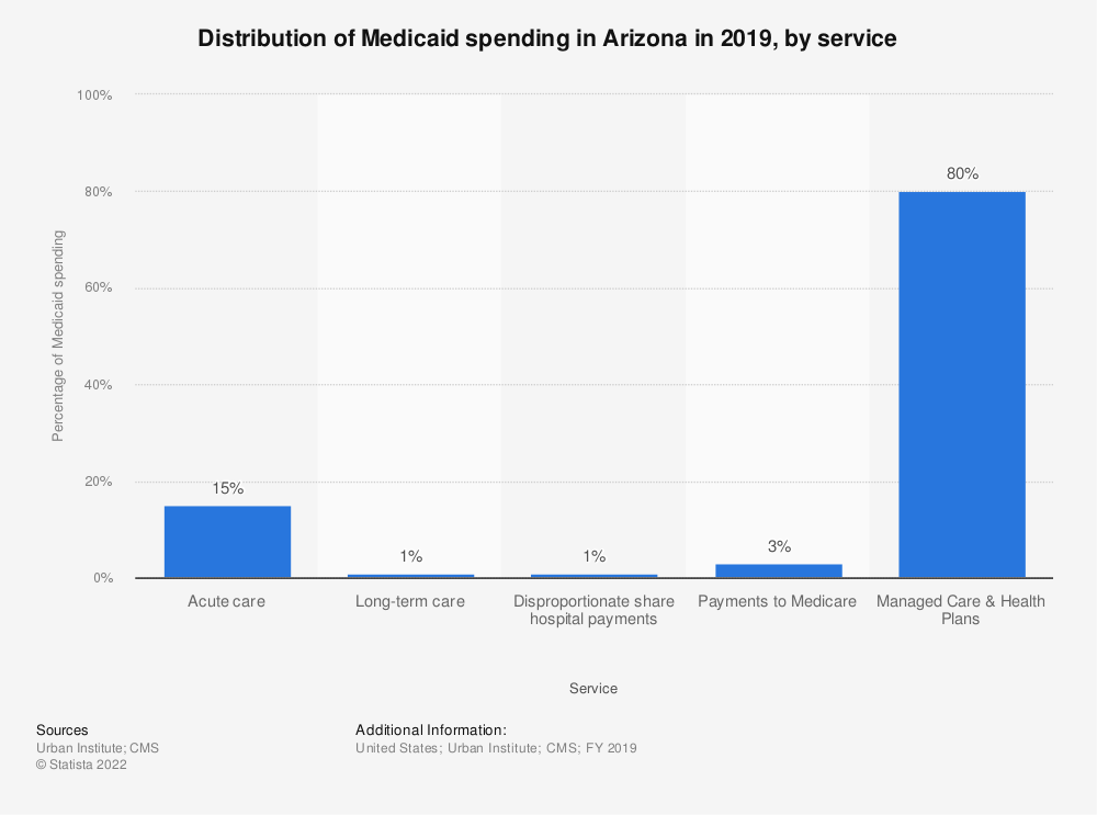 Statistic: Distribution of Medicaid spending in Arizona in 2019, by service | Statista